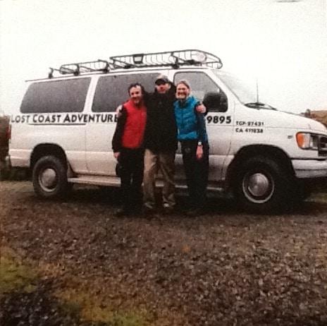 Joey Shannon and Blu Graham Lost Coast shuttle trip