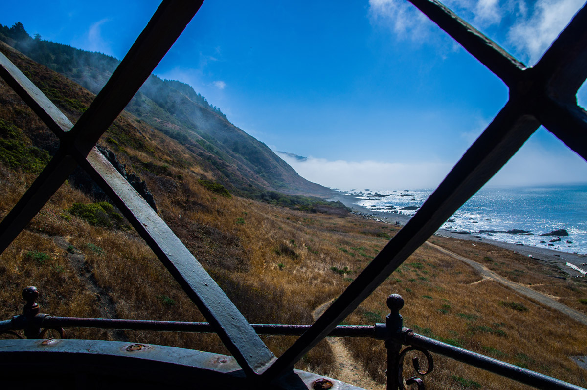 Overlooking the beauty of the Lost Coast Trail