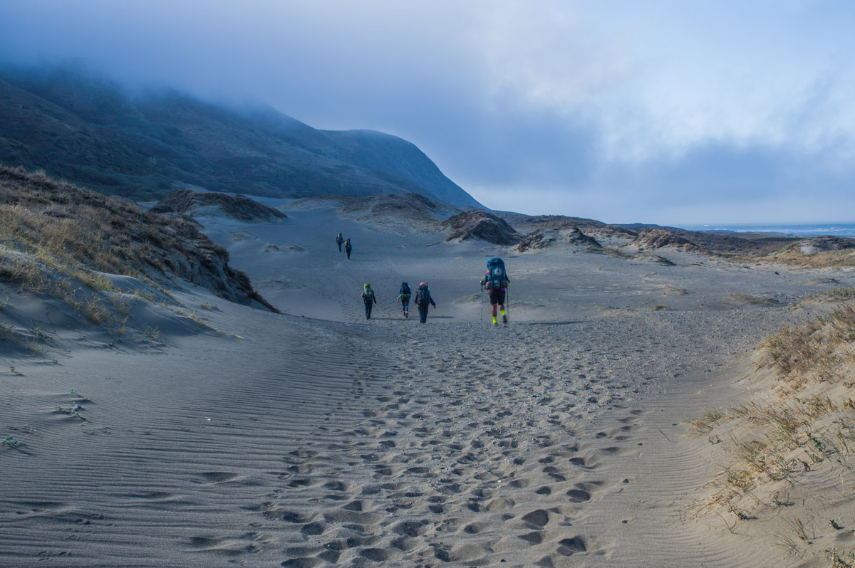 Hiking under the heat of the sun with Lost Coast Adventure Tours