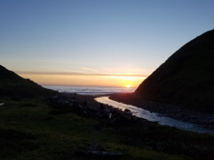 Sunset view in the Lost Coast Trail