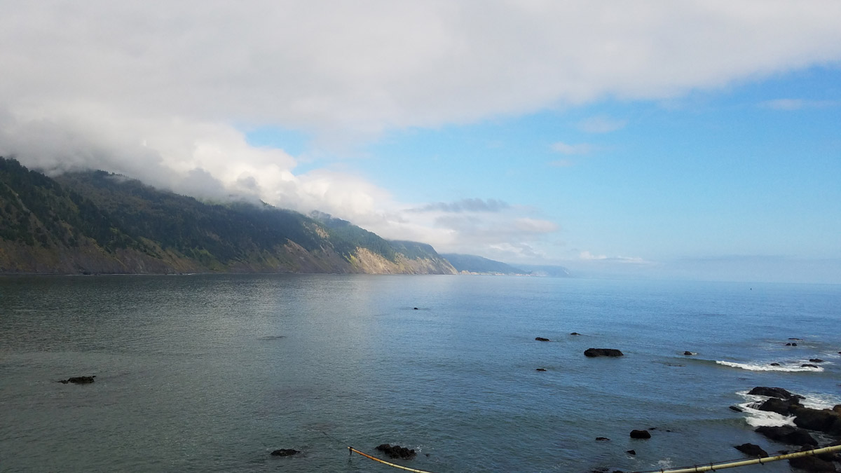 Cloudy day in Lost Coast Trail
