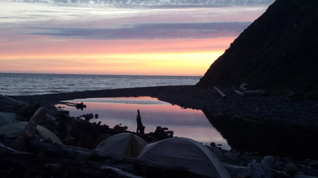 Resting campers in Lost Coast Trail