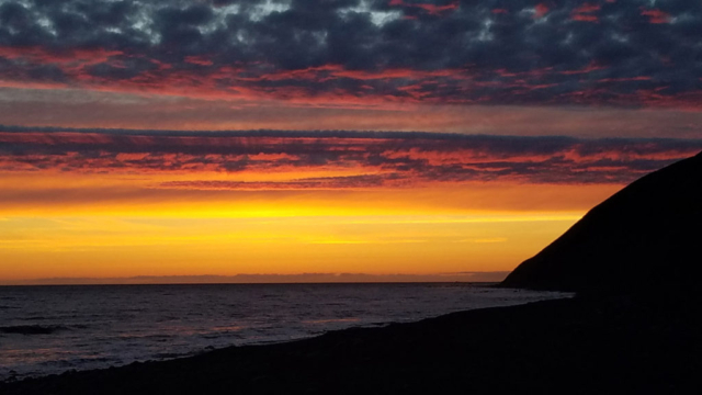Marvelous sunset during the Lost Coast Adventure Tours