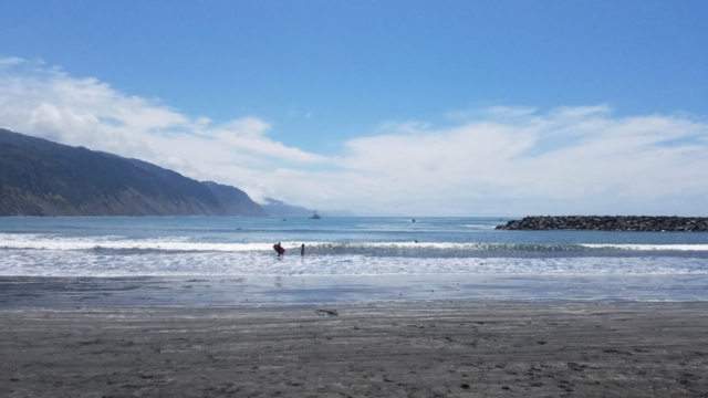 Beautiful blue water in Lost Coast Trail