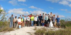 Beach clean up group photo