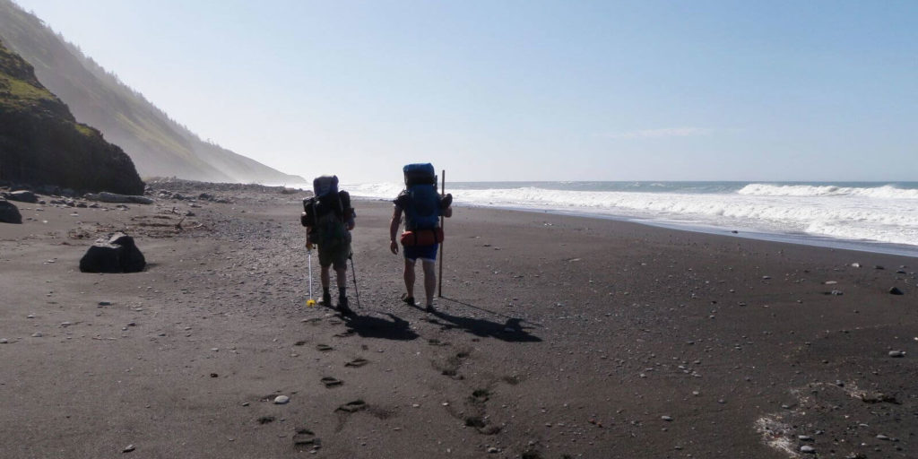 Joey and Shannon Hodgson hike the Lost Coast Trail